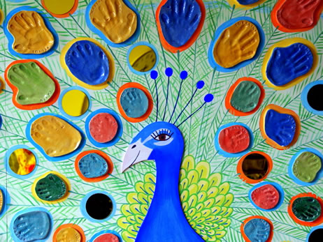 Peacock Mural Honor Pinner Art Projects